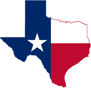 map flag symbol - State of Texas